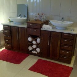 Custom Hard Wood Built-in Cabinets, Bathroom Sink Cabinet